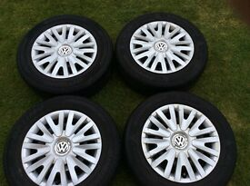 VW Wheels tyres and trims 15 inch Golf Mk 6