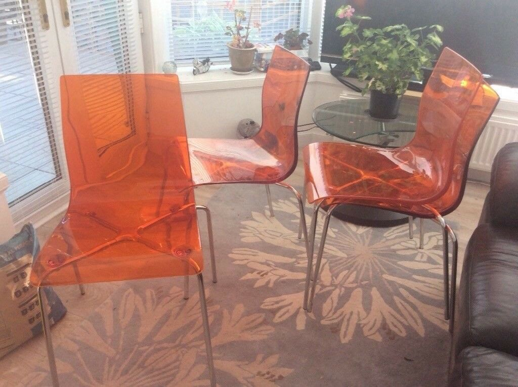 Ex John Lewis Gel Acrylic Dining Chairs X 4 In Bridge Of