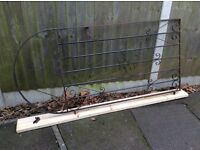 FULL HEIGHT BLACK METAL GARDEN SIDE ACCESS GATE