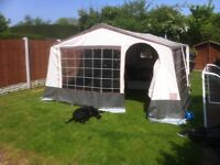 Good clean trailer tent with large awning good tyres,new towing electrics, porta loo and more extra