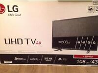 "LG 43"" 4K TV."