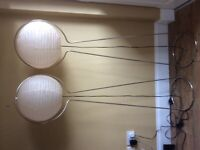 Two matching floor lamps