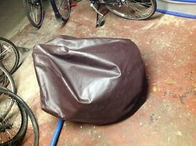 Large dark brown beanbag in good condition REDUCED