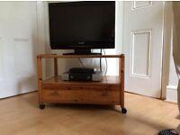 M&S vintage pine tv table