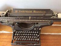 Underwood Standard No 3 Typewriter with 16 inch carriage