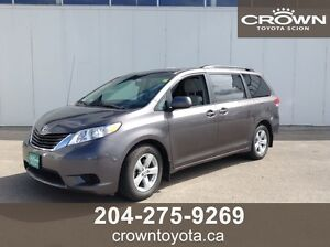 CERTIFIED! 2014 TOYOTA SIENNA LE 8-PASS V6 FWD! CLEAN CARPROOF!