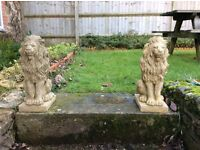 A pair of proud lions in Cotswold bath £40
