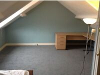Large attic double room available in creative friendly shared house- bills included!
