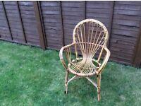 Wicker Conservatory / Patio Chair / Garden Furniture