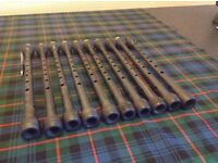 10 older style warmac Bagpipe Chanters
