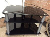 TV Glass 3-tier table stand (£12 ono)