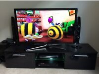 """LED BLACK GLOSS TV STAND UP TO 65"""""""