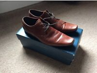 River island men's tan leather shoes