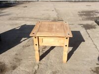 Small pine table.