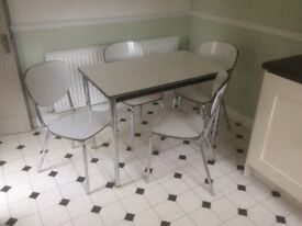 Vintage style Formica table and chairs