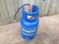 7kg butane gas bottle 1/2 full