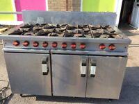 Moorwood vulcan 8 burner cooker NATURAL GAS cooker commercial
