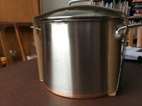 Sainsbury's Brushed Copper bottom Large stockpot