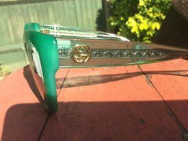 Original Gucci Green Sunglasses With Box New