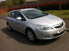 Vauxhall Astra 1.7 CDTi 16v Exclusive,DIESEL,FULL SERVICE HISTORY,SILVER,1 Owner,£30 Road TAX, 2012