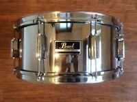 "Wokingham Drum Sales - Pearl Export 14"" x 6"" Chrome Snare Drum"