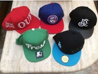 Job Lot Of Assorted snap backs and Caps