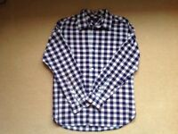 Tommy Hilfiger boys shirt. Blue and red check. Size 10-12 yrs. Large