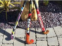 3 children's hockey sticks