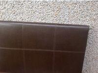 Really nice brown leather single headboard