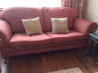Stylish sofa and 2 chairs will sell separately John Lewis Terracotta pink