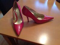 Next Ladies fuschia high heel stilleto shoes uk size 7