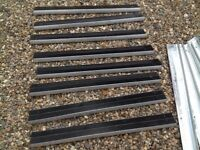 Anti slip stair tread covers complete set of 17 heavy duty aluminium