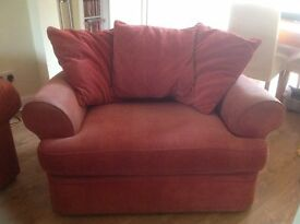 M&S single sofa bed -sound and comfortable. The bed has been little used has sun fadeing to arms