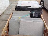 Grey Indian sand stone paving slabs