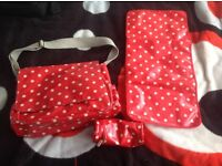 Cath Kidston changing bag and extras
