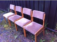 Set of four dining/reception chairs (BEIGE)
