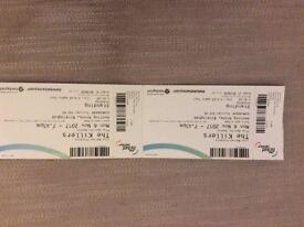 2 Killers tickets for Birmingham 6th Nov - make an offer!