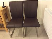 Andersons of Inverurie leather dining chairs.
