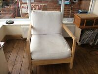 Reclining single chairs, one rocking. Great condition. Ideal for conservatory or minimal setting.