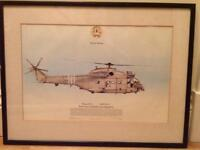Poster of RAF Puma in Desert Storm colours (216 Squadron)