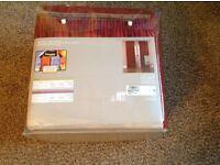 "Brand New Curtains 90""L x 86""W(each curtain).Fully lined.Still packaged.Never hung.cost £119"