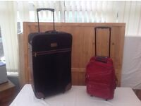 PULL ALONG SUITCASE AND FLIGHT BAG IN EXCELLENT CONDITION