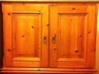 Two oak wood storage unit/wardrobe