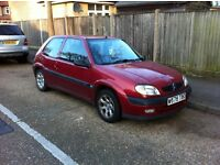 Citreon Saxo 2000 Red 3 Door Hatchback 1.4 LOVELY FIRST CAR !