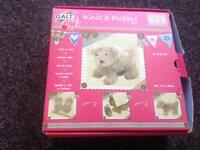 Knit a puppy and dalls kit