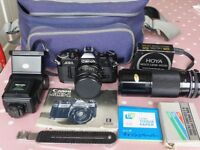 Canon AE1 SLR 35mm Film Camera Outfit