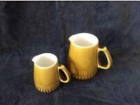 Vintage Langley Patrician milk jugs and sugar bowl