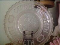 George V1 glass plate
