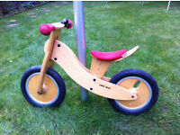 Classic 'like bike' wooden balance bike