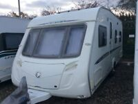 Swift Challenger 540 T5A 2007 Touring caravan with Porch awning and motor mover